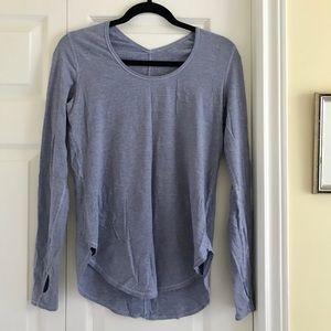 LULULEMON long sleeve blue shirt